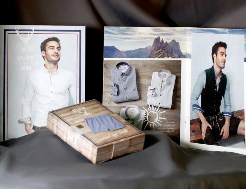 pure – Tracht: Lookbook, Flyer, Verpackung