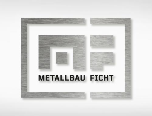 Metallbau Ficht: Logo, Visitenkarten, Fensterbeklebung, Schild, Signatur, Facebook