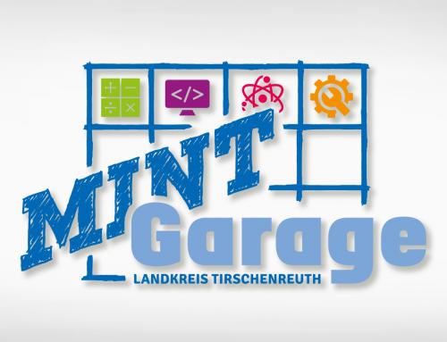MINT Garage Landkreis Tirschenreuth: Logo, Vorlagen, Beschilderung, Fensterbeklebung, T-Shirts
