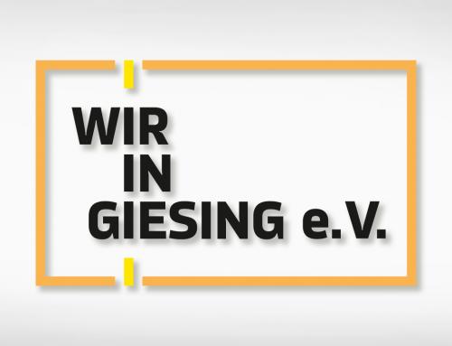Wir in Giesing e.V.: Schriftzug, Flyer